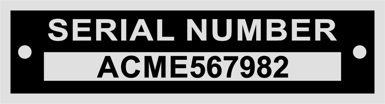 VIN Number Plates - Vin Plates - VIN Tags - Blank VIN Plates