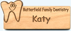 Custom Wood Name Tag