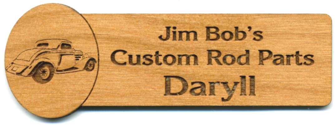 Brand-new Wood Name Tags - Laser Engraved Wood Name Tags - Custom Wooden  OH02